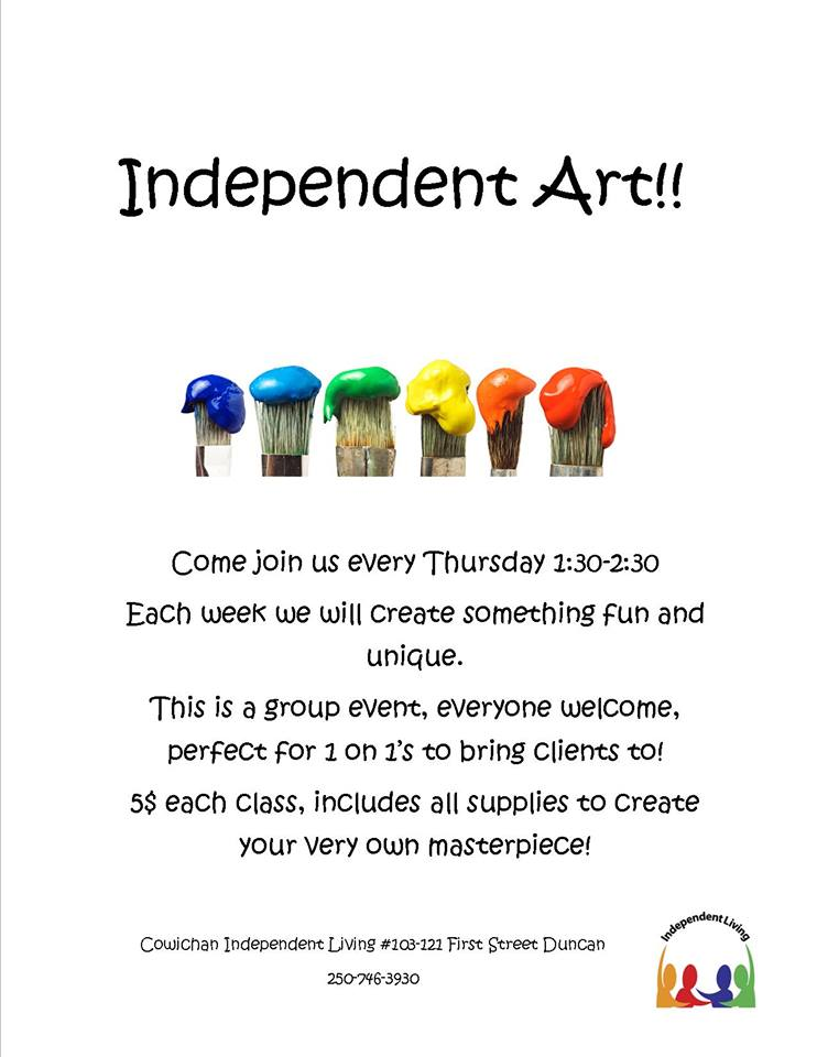 Independent Art - Cowichan Independent Living
